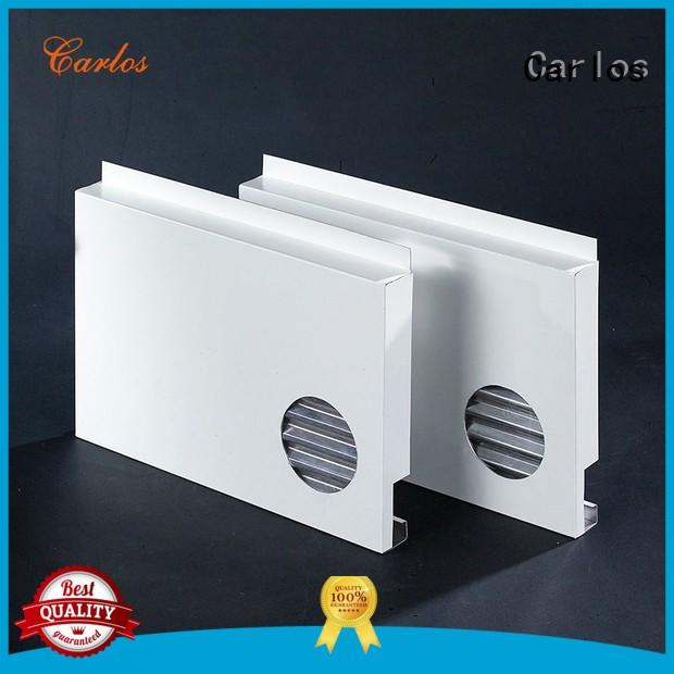 square single aluminum panels wavy Carlos