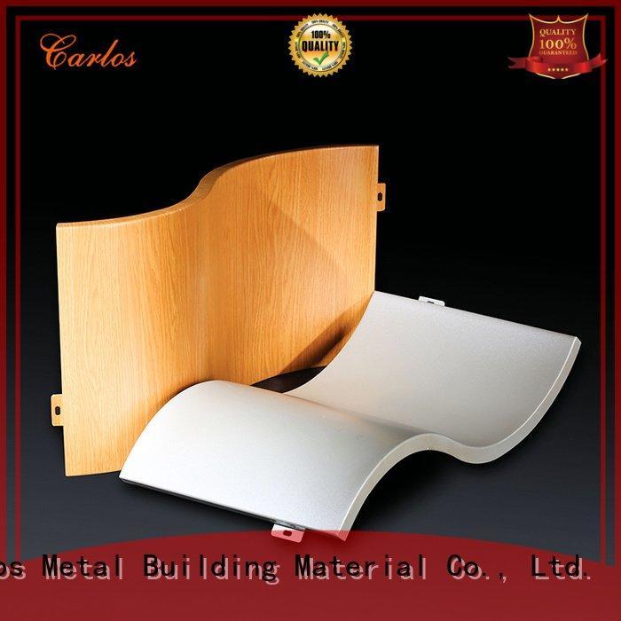 Hot aluminum wall panels exterior package wavy single Carlos Brand