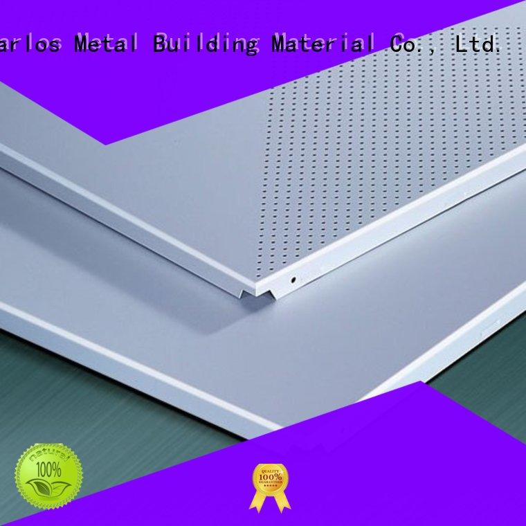metal ceilings buckle perforated metal ceiling tiles suppliers Carlos manufacture