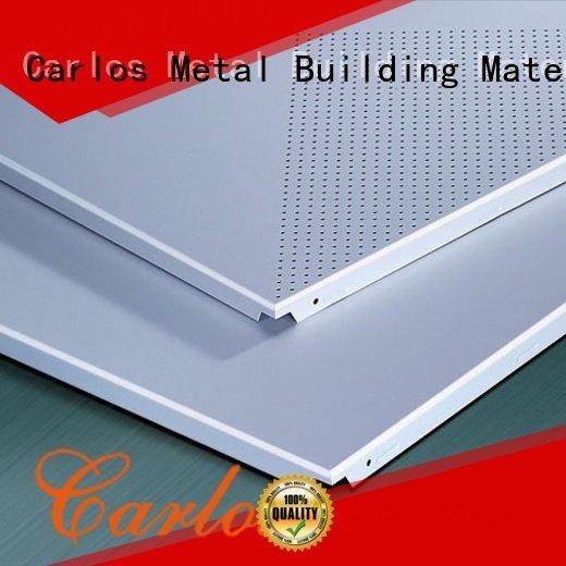 square metal drop ceiling design for roof Carlos