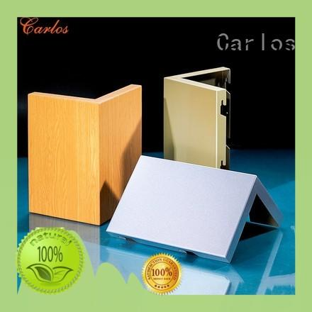 Carlos art aluminum wall panels design for internal wall