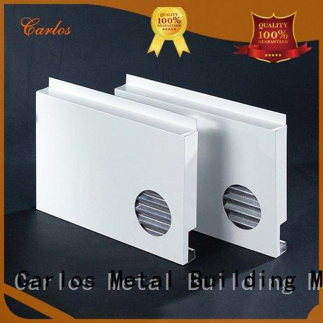 Hot aluminum wall panels exterior wavy package hollow Carlos Brand