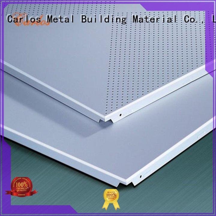 ceilings square metal perforated metal ceiling tiles suppliers Carlos Brand