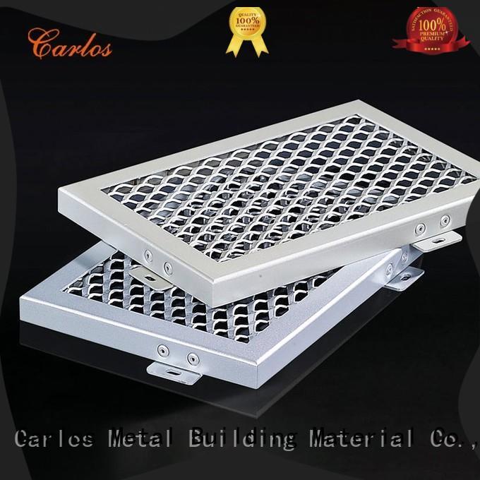 square aluminum ceiling panels metal for roof Carlos