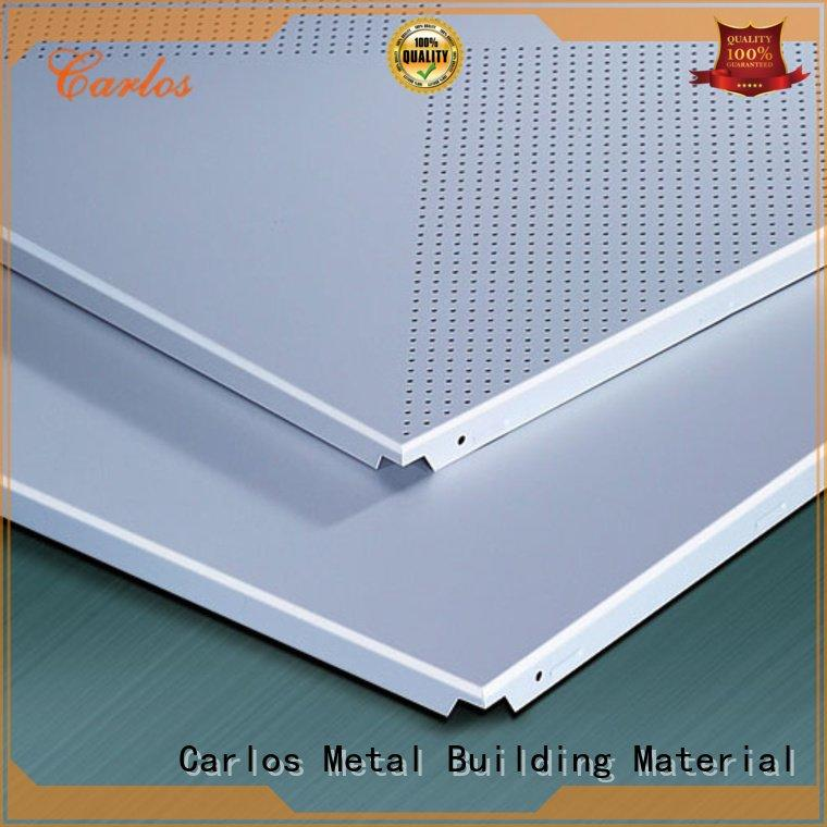 Carlos series ceiling metal ceiling panels ceilings square