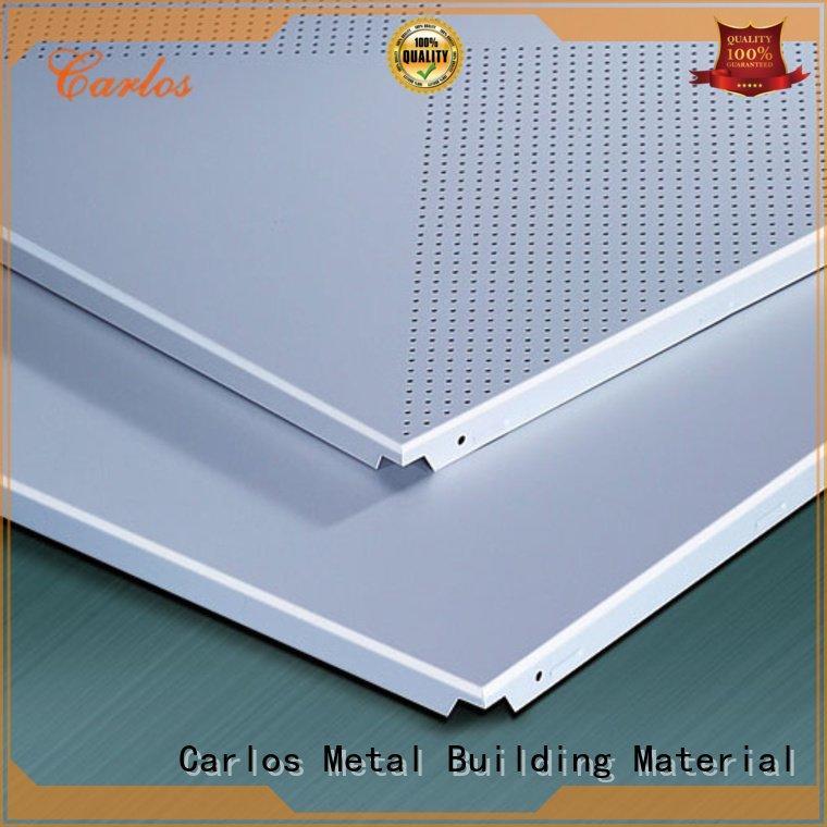 Carlos series ceiling metal ceiling panels ceilings square
