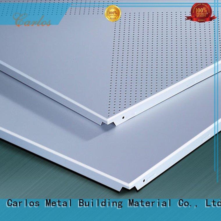side netting ceiling metal Carlos perforated metal ceiling tiles suppliers