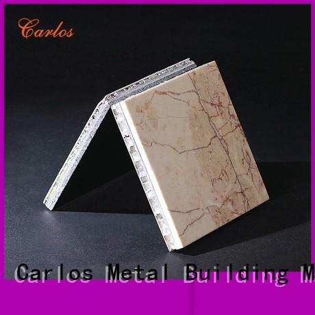 Carlos New stone aluminum honeycomb panel Supply