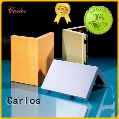 wavy single column aluminum panels Carlos Brand