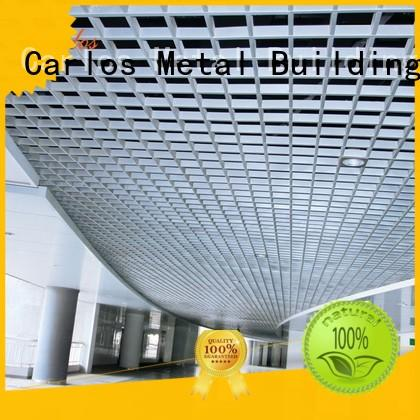 Carlos Brand baffle grille metal ceiling panels manufacture