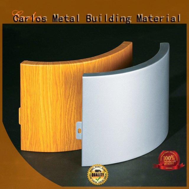 Carlos Brand flat corrugated wavy aluminum panels circular