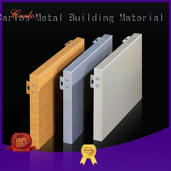 Carlos aluminum wall panels exterior column board bag