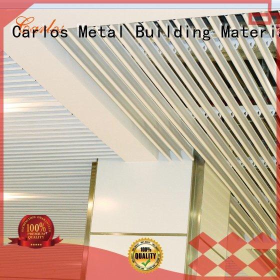 Carlos blade metal ceiling panels grille ceiling