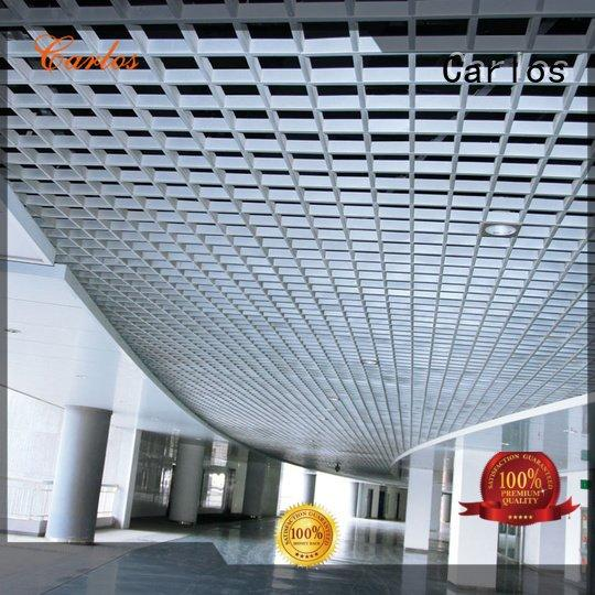 buckle square Carlos perforated metal ceiling tiles suppliers