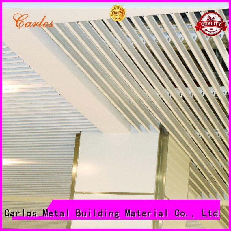 perforated metal ceiling tiles suppliers buckle grille series Carlos Brand metal ceiling panels