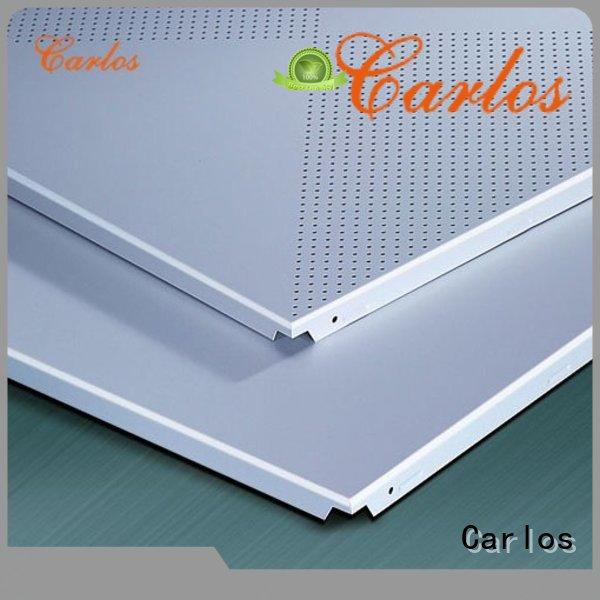 blade grille metal ceiling panels square Carlos Brand