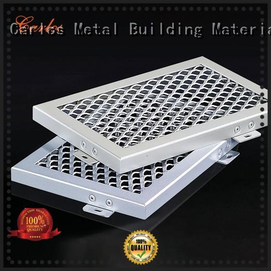 Carlos baffle perforated metal ceiling tiles suppliers metal for roof