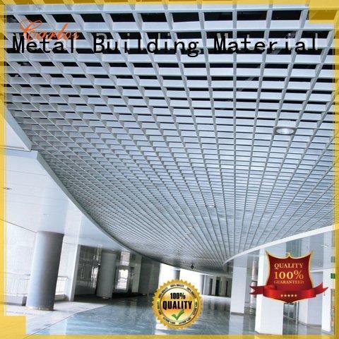 Custom metal ceiling panels ceilings netting grille Carlos