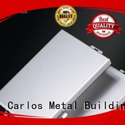 Carlos Brand columns single aluminum wall panels exterior board