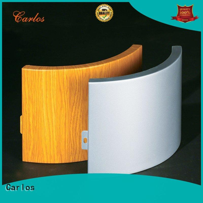 Carlos round aluminum composite wall panels Supply