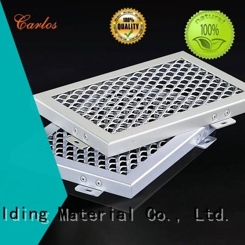 Carlos buckle perforated aluminum ceiling panels manufacturer for roof