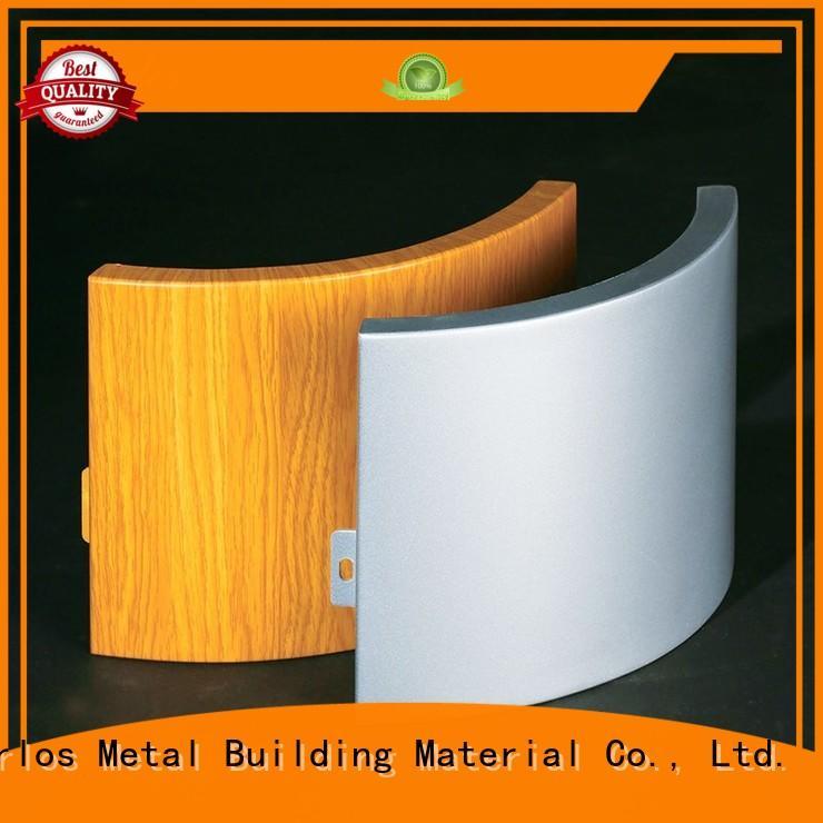 round aluminium composite sheet single design for roof