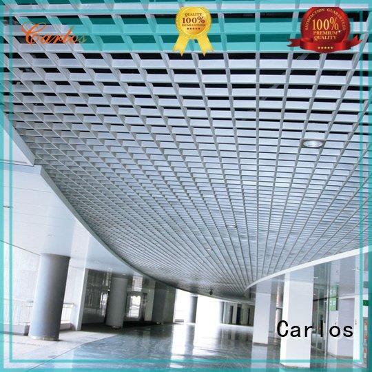 Carlos Brand side metal through metal ceiling panels ceiling