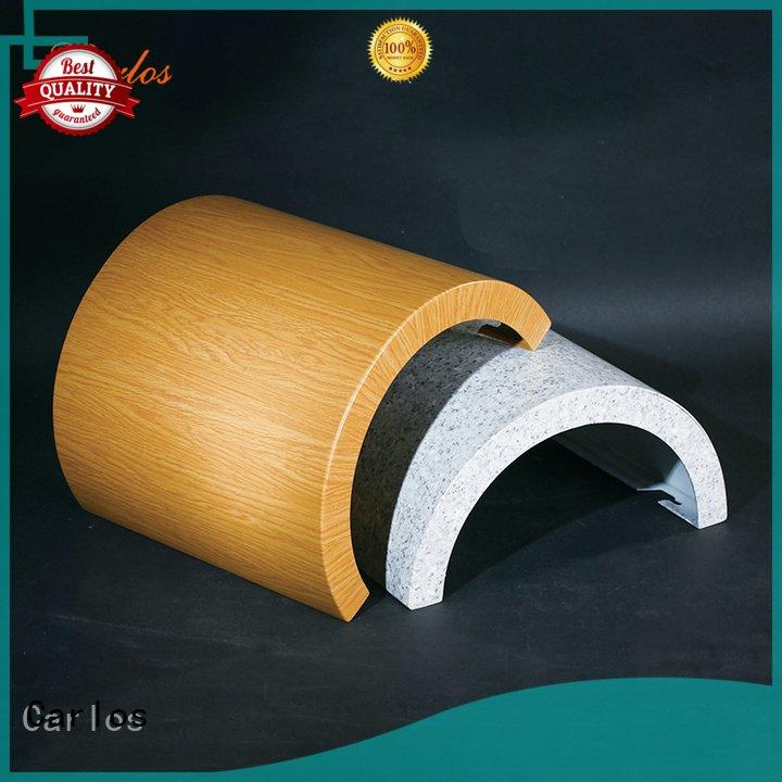 Carlos aluminum panels column wavy corrugated board