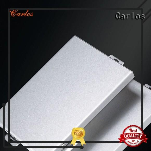 Carlos Brand metal hollow aluminum wall panels exterior flatseam