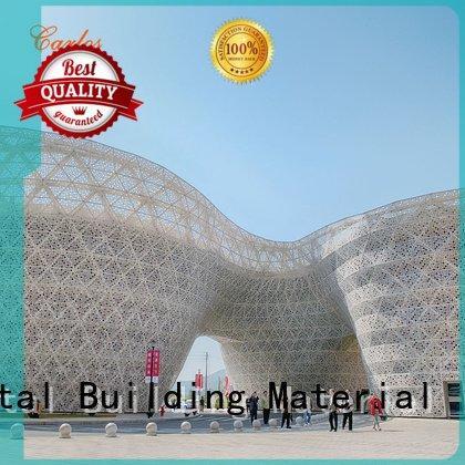 aluminum wall panels exterior wavy hollow flat bag