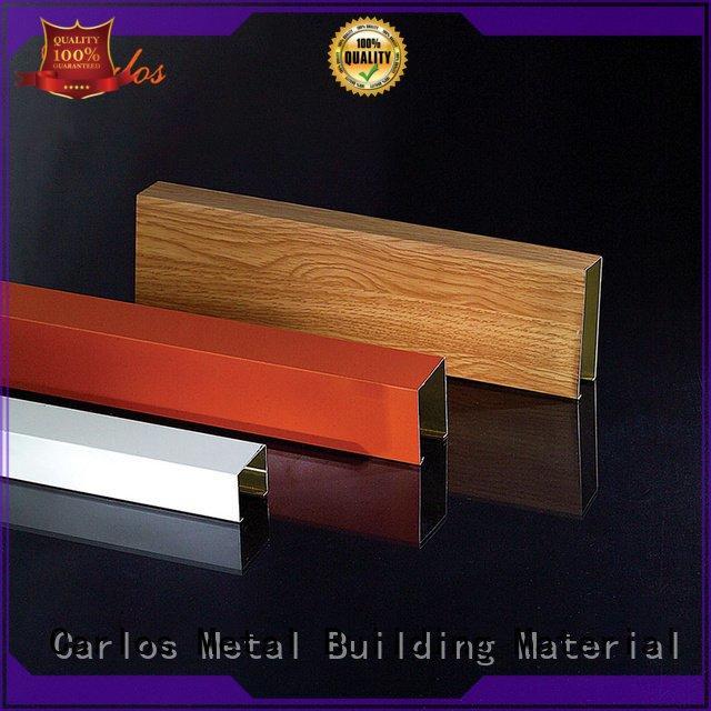 Carlos square metal ceiling panels series buckle