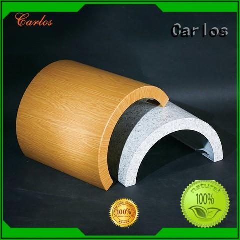 hyperbolic wavy column round aluminum panels Carlos