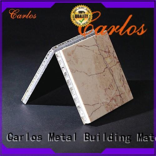 Carlos durable stone aluminum honeycomb panel manufacturer for roof