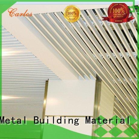 Carlos square metal ceiling panels ceiling netting
