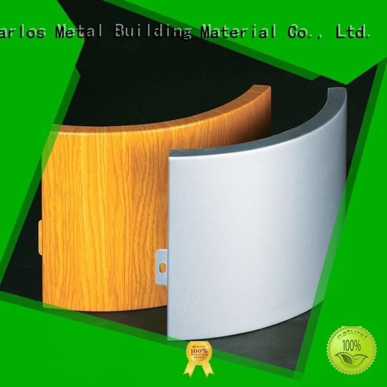 Carlos corrugated aluminium composite panel design for roof