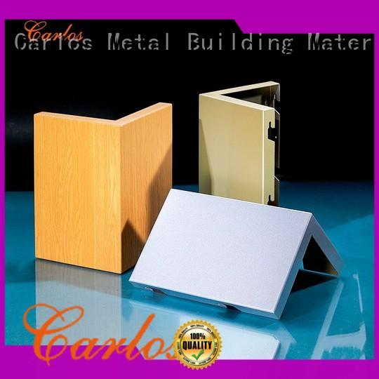 Carlos seamless aluminum wall panels customized for roof