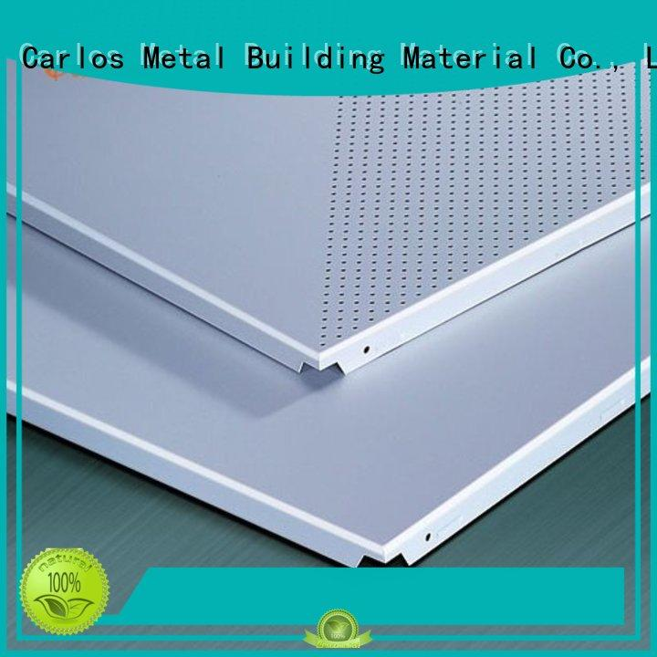 Quality Carlos Brand perforated metal ceiling tiles suppliers blade series