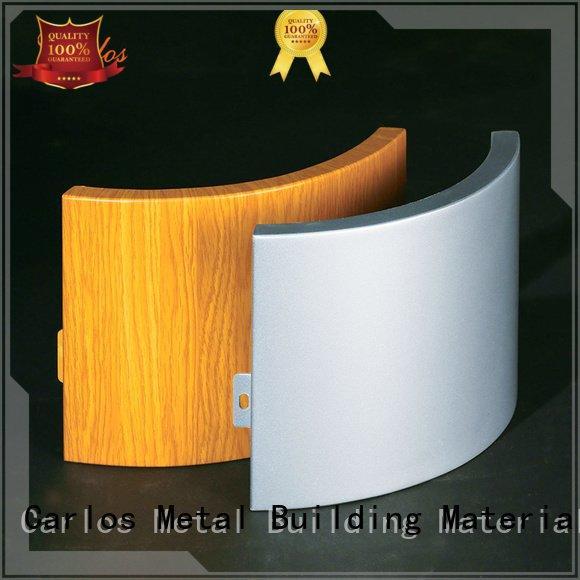 Carlos hyperbolic aluminum flatseam aluminum wall panels exterior sewing