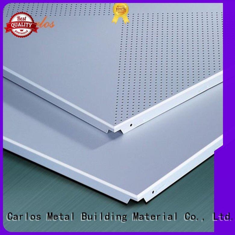 perforated metal ceiling tiles suppliers blade netting Carlos Brand metal ceiling panels
