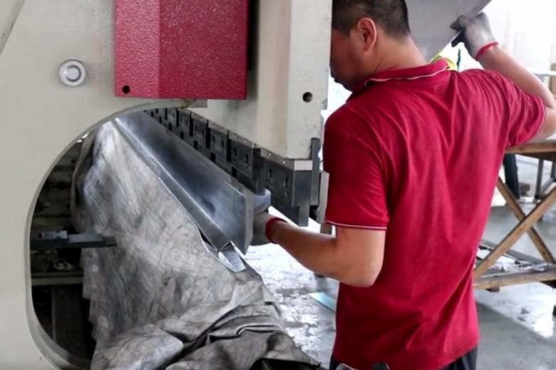 Bent aluminum plate