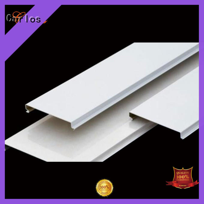 Carlos blade perforated metal ceiling panels buckle for decoration