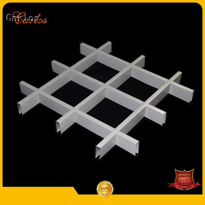 Carlos grille aluminium ceiling customized for decoration