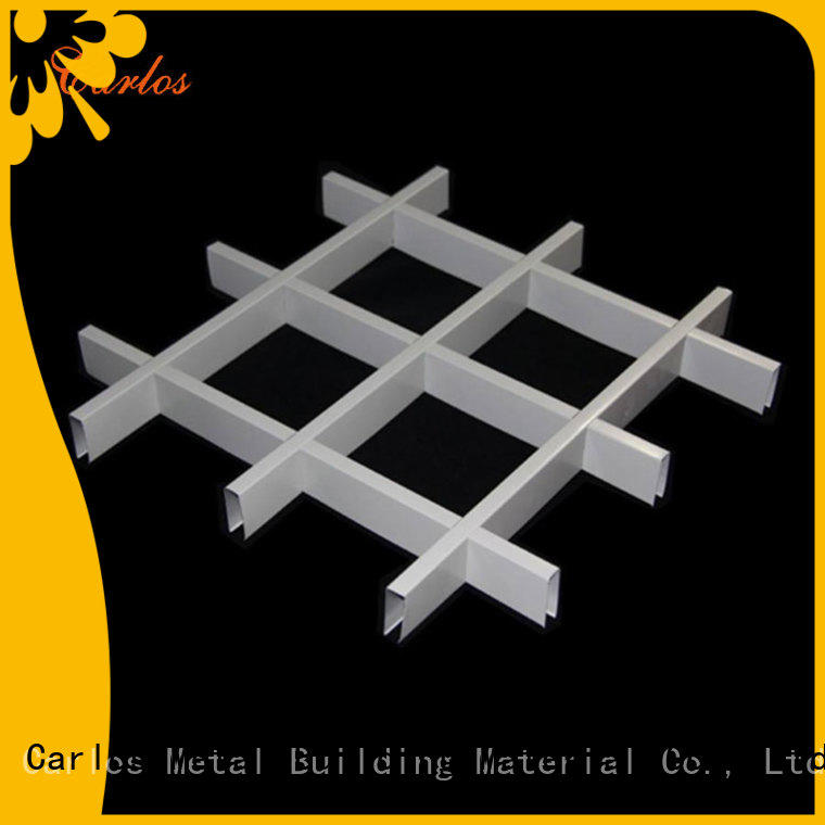 Custom metal ceiling panels square for business