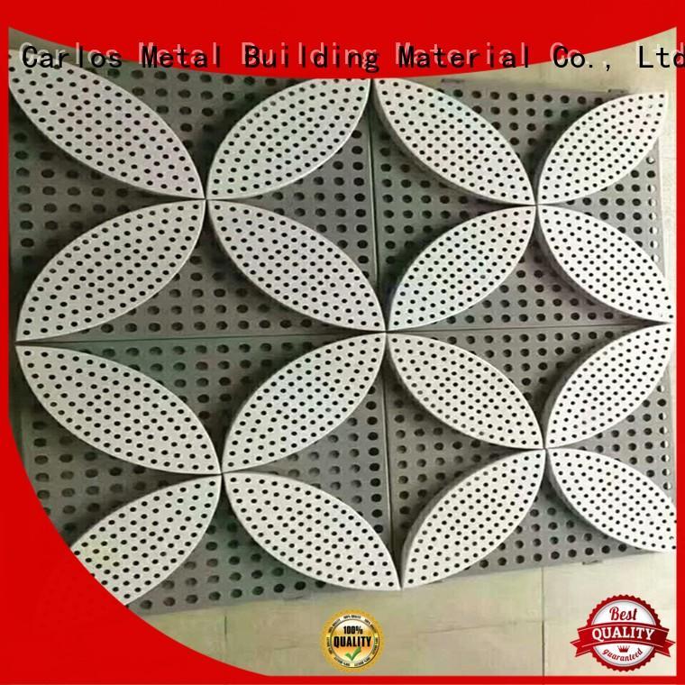 Carlos Brand wavy hyperbolic aluminum wall panels exterior bag