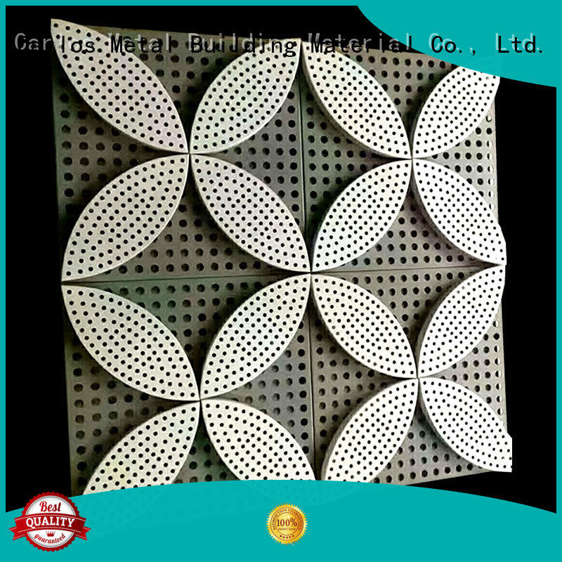Carlos hyperbolic aluminum composite sheet customized for decoration