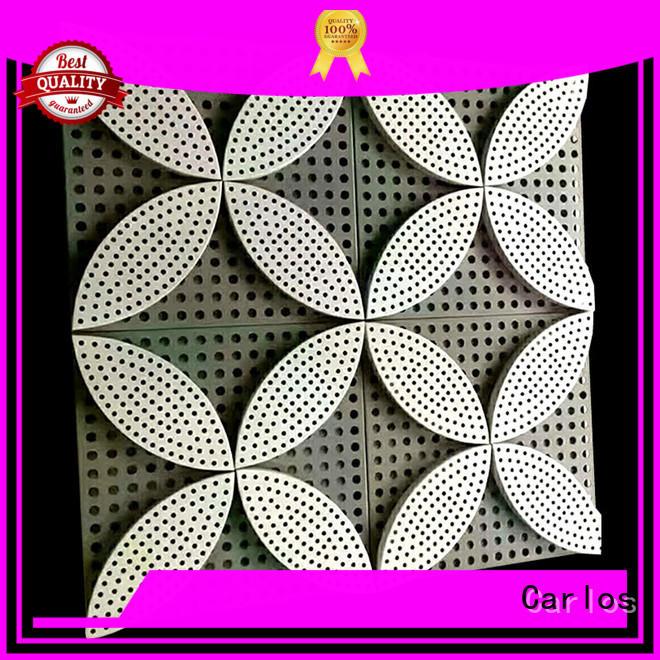 round exterior aluminum panels hyperbolic design for decoration
