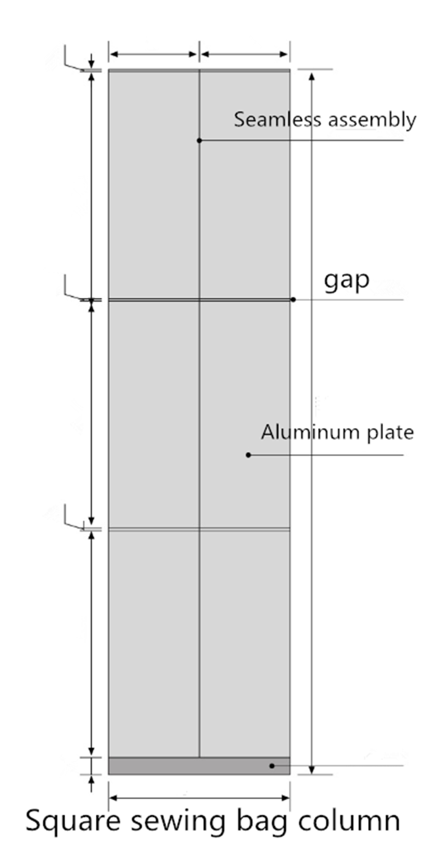 Carlos column aluminum panels customized for internal wall-2